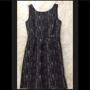 J. Crew Gray/White Sleeveless Dress 0